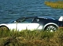 Bugatti Veyron утонул в озере