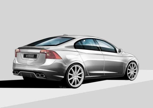 Иллюстрация тюнингового Volvo S60 от ателье Heico Sportiv
