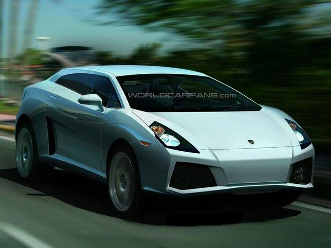 Кроссовер Lamborghini - компьютерное изображение