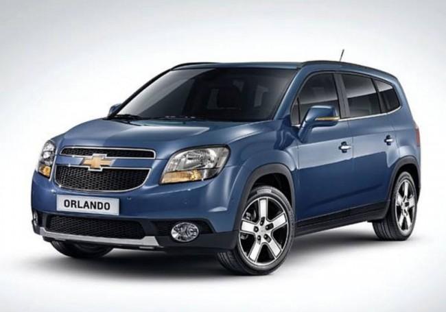 Фото обновленного Chevrolet Orlando 2014