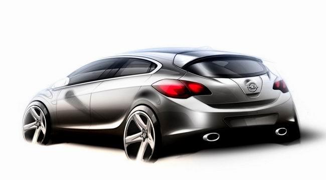Скетч будущего Opel Astra OPC 2012