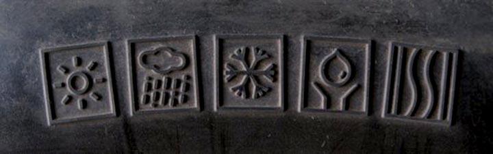 Значки на шинах