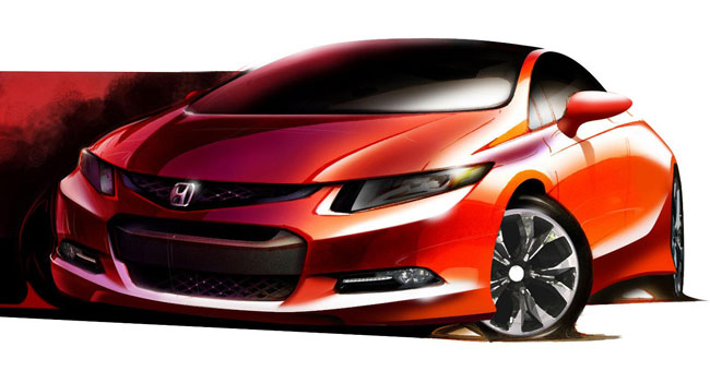 Прототип новой Honda Civic покажут в Детройте
