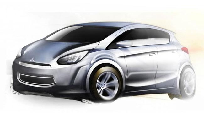 Скетчи новой компактной модели Mitsubishi