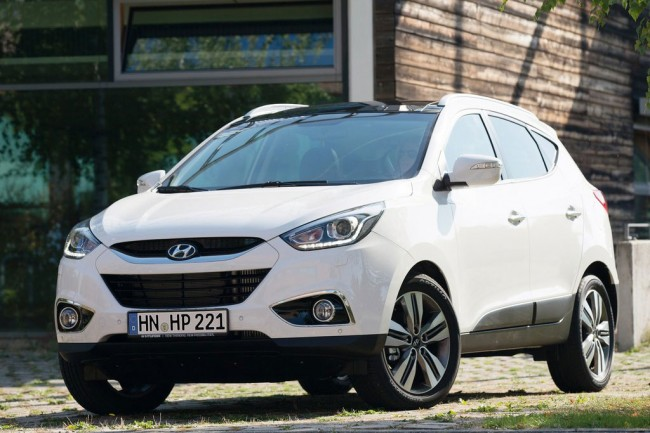 Белый Hyundai ix35