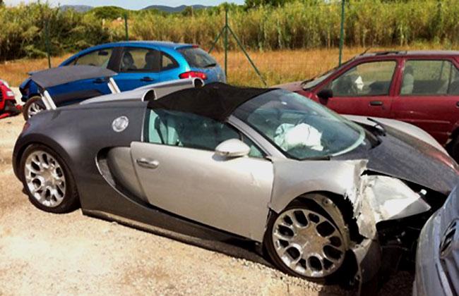 Во Франции разбили суперкар Bugatti Veyron Grand Sport
