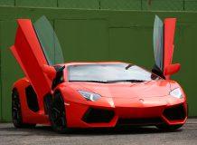 Lamborghini Aventador с открытыми дверями