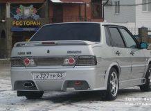 Тюнинг заднего бампера ВАЗ 2115