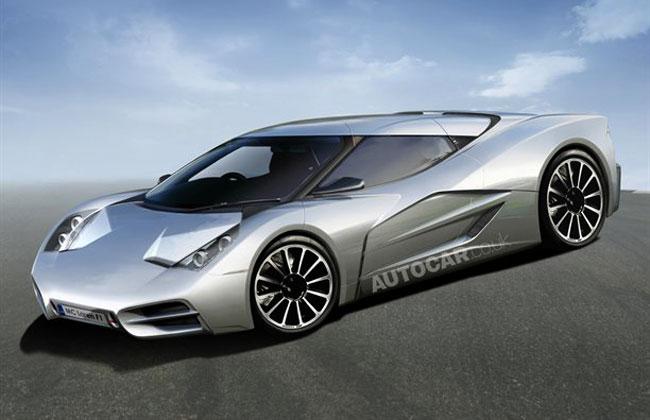 Иллюстрация суперкара McLaren Mega Pac