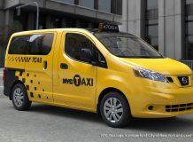 Фото будущего NYC Taxi на базе Nissan EV200