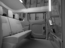 Пассажирский салон такси Nissan EV200