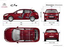 Размеры Citroen C4 new