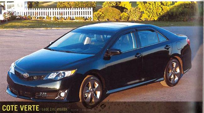 Канадский журнал рассекретил Toyota Camry 2012