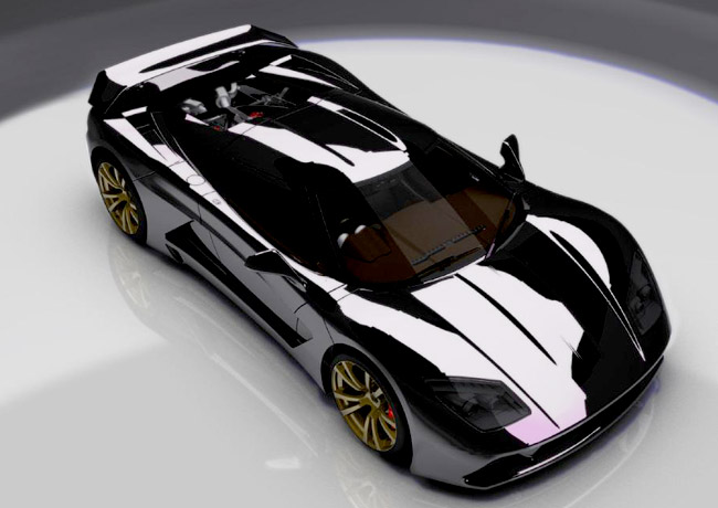 Французский суперкар Genty Akylon мощностью 1000 л.с.