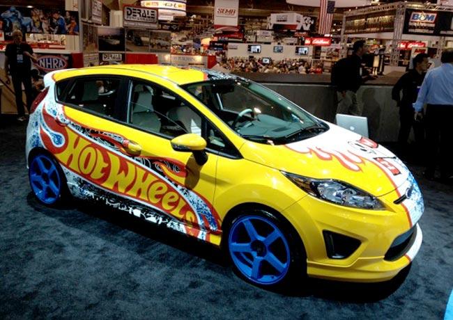 Яркий Ford Fiesta от ателье Hot Wheels на SEMA 2011