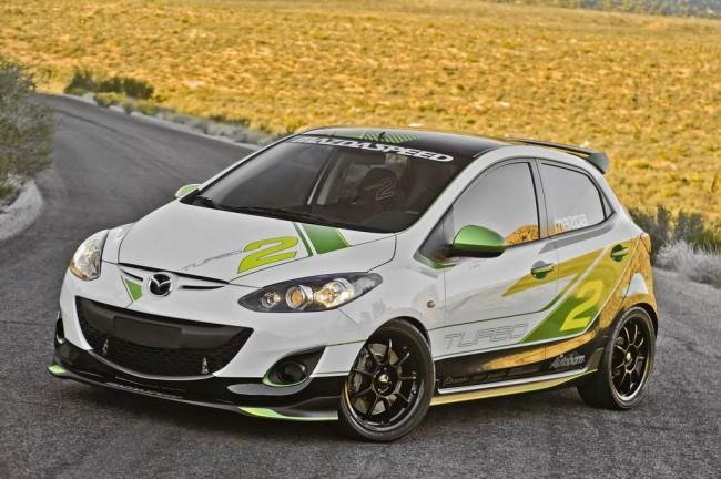 Турбированная Mazda2 Concept на SEMA 2011