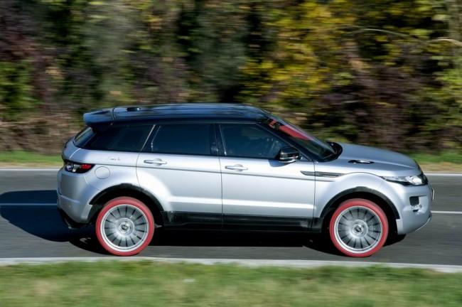 Range Rover Evoque HFI-R на красных шинах Marangoni