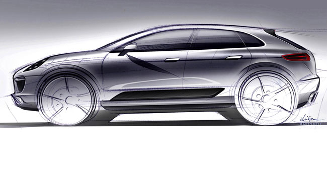 Скетч будущего Porsche Macan