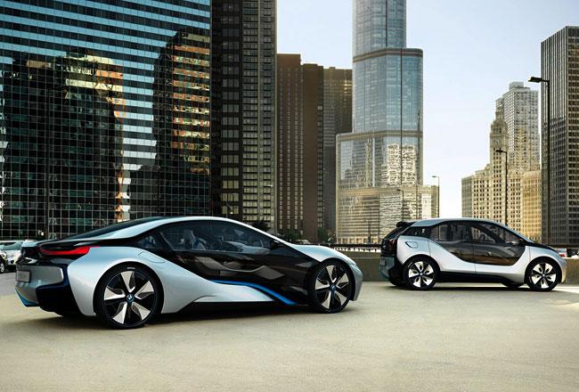 BMW i8 и i3 фото