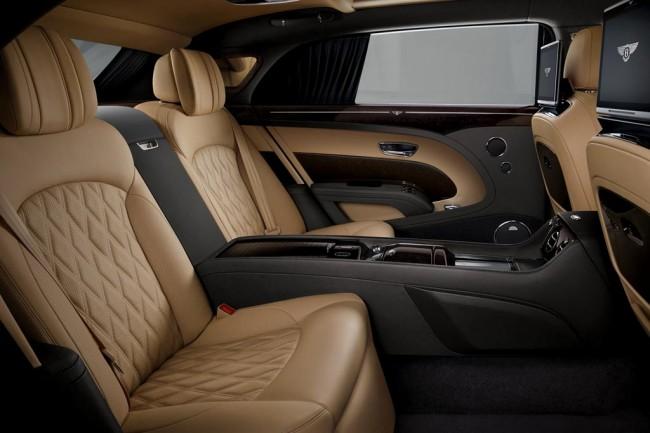 Интерьер роскошного Bentley Mulsanne LWB