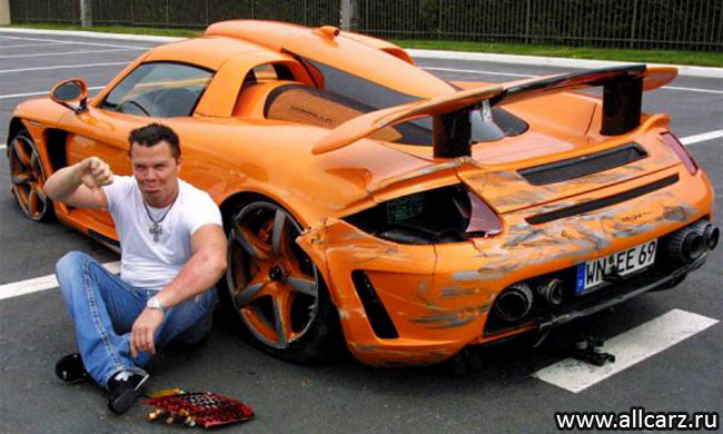 Разбитый Gemballa Carrera GT