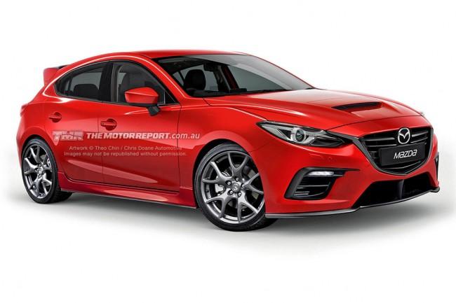 Рендер новой Mazda 3 MPS