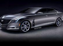 Рендер флагманского седана Cadillac