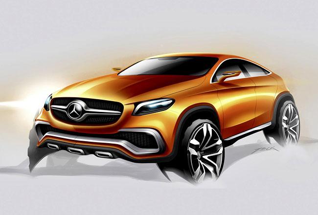Рендер концепта Mercedes Coupe SUV
