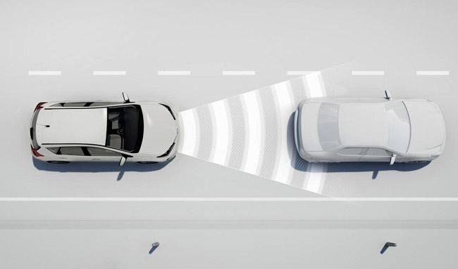 Работа системы Toyota Safety Sense