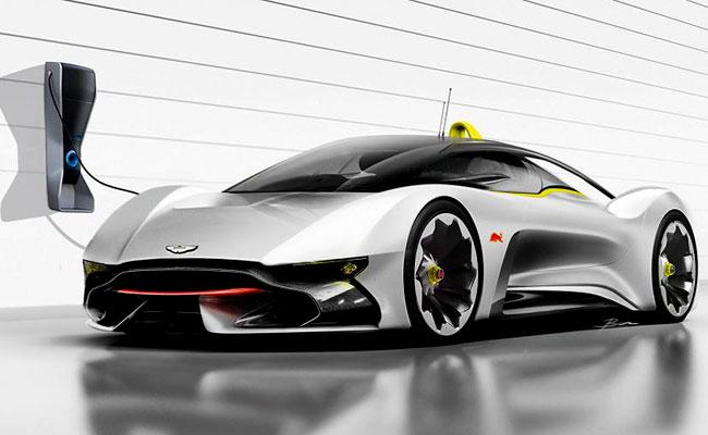 Рендер суперкара Aston Martin от Эдриана Ньюи