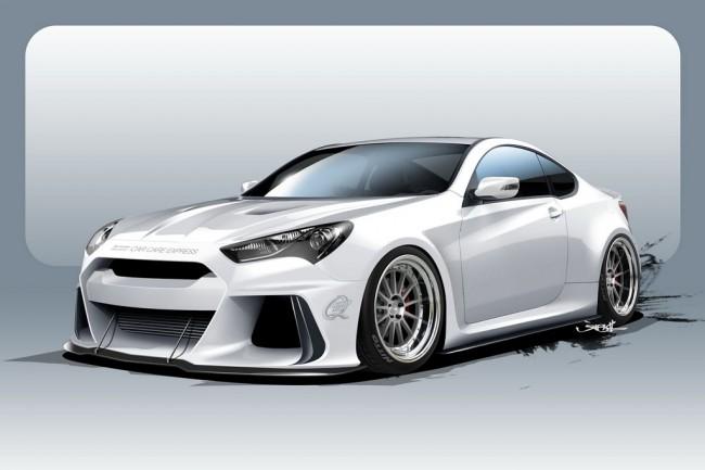 Скетч Hyundai Genesis Solus