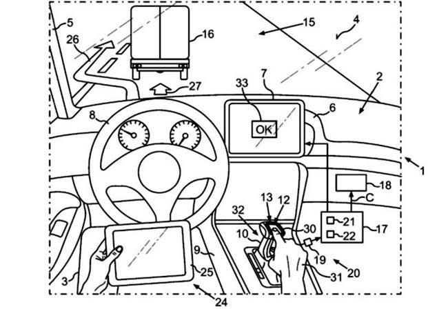 Управление автопилотом с помощью тачпада
