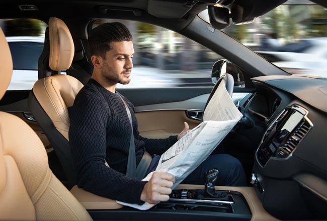 Volvo с функцией автопилота