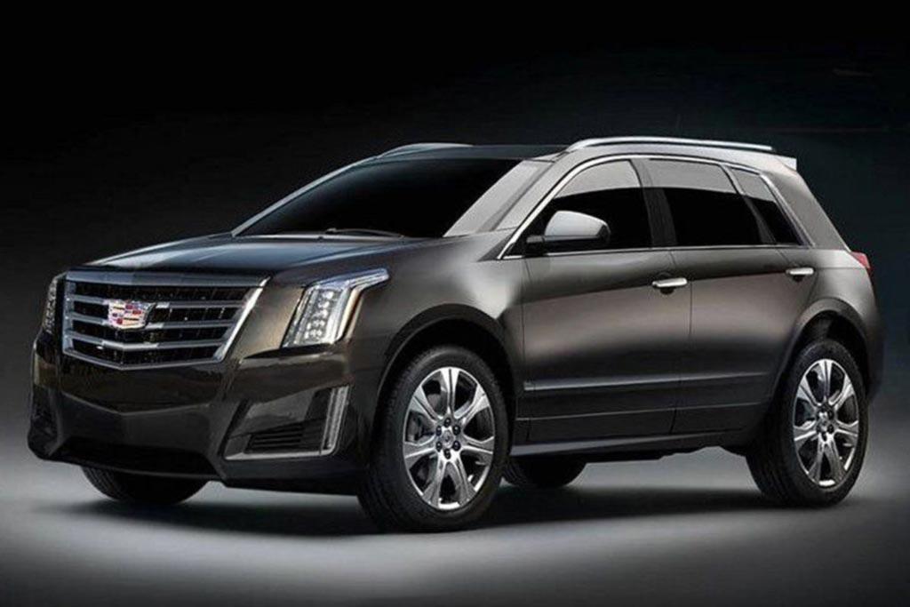 Рендер кроссовера Cadillac XT3