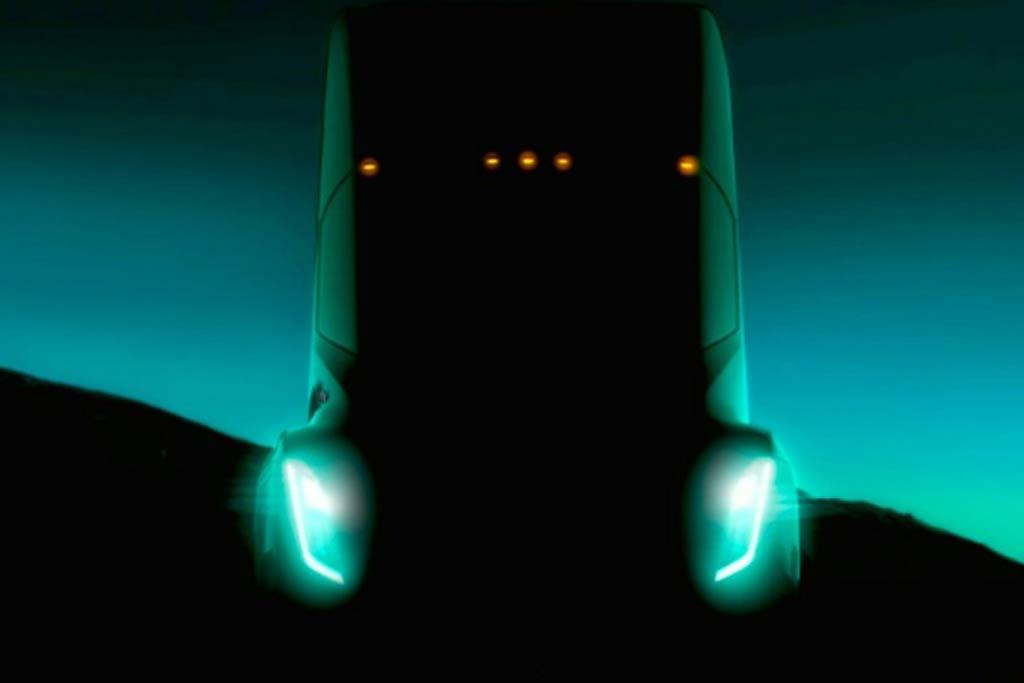 Тизер грузовика Тесла