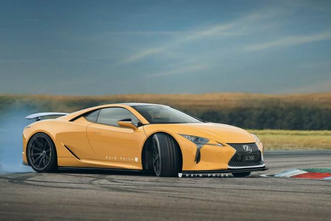 Так мог бы выглядеть среднемоторный Lexus LC