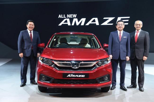 Новая Honda Amaze 2 поколения