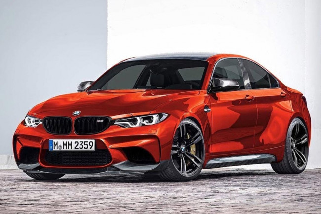 Рендер BMW M2 Gran Coupe