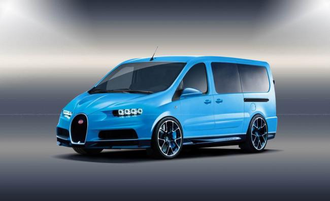 Рендер фургона Bugatti