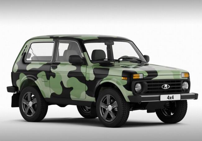 Lada 4x4 в камуфляжной окраске