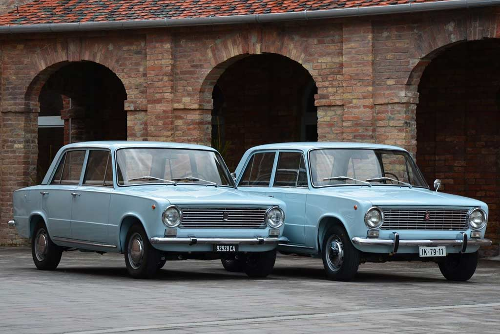 Fiat-124 и ВАЗ-2101