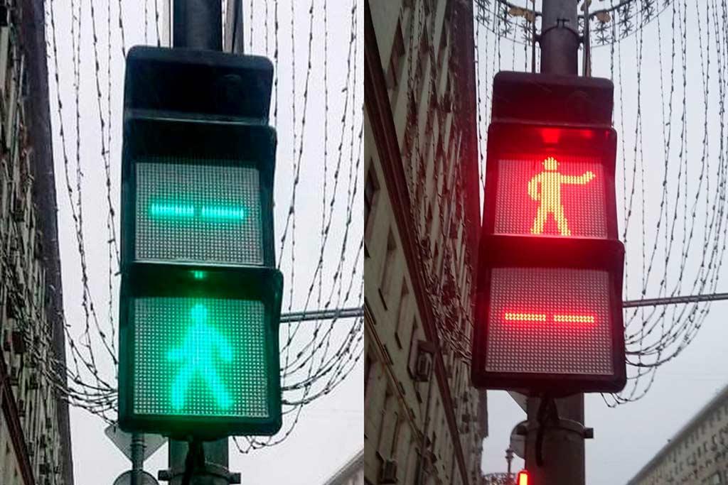 В Москве замечены «квадратные» светофоры: в чем их преимущество?