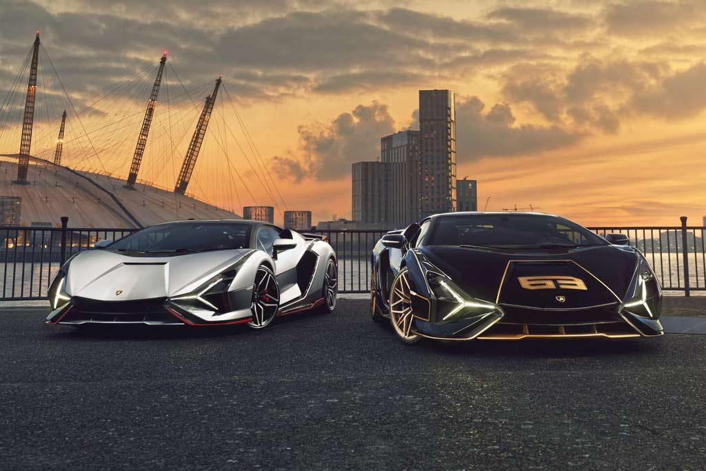 Два Lamborghini Sian «приземлились» в Лондоне: местный дилер организовал фотосессию
