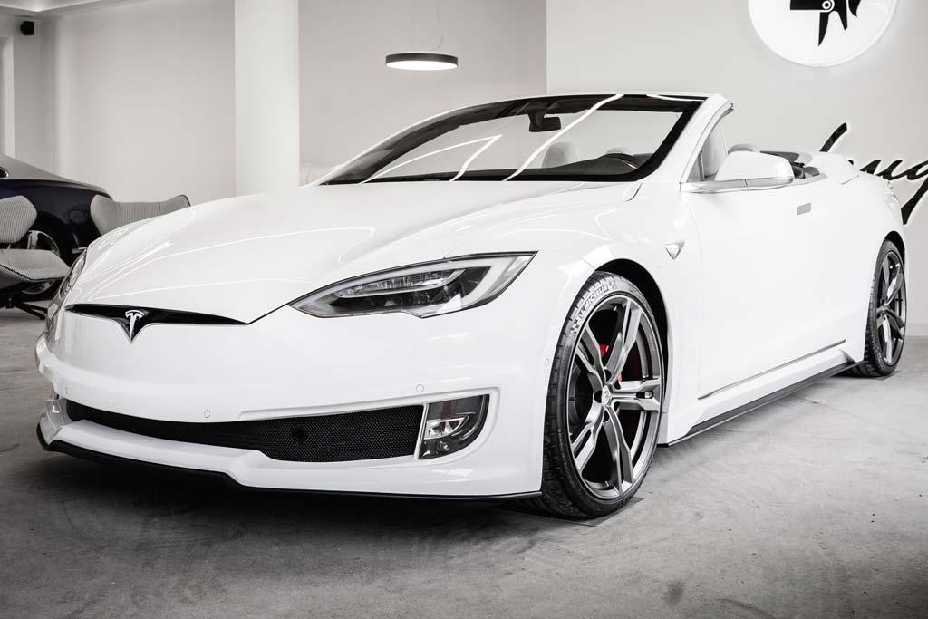 Владелец заказал себе эксклюзивную Tesla: кабриолет на базе Model S