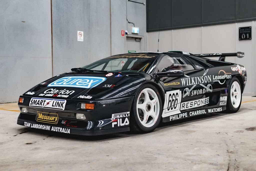 Гоночный Lamborghini Diablo SV-R с богатой историей продают в далекой Австралии