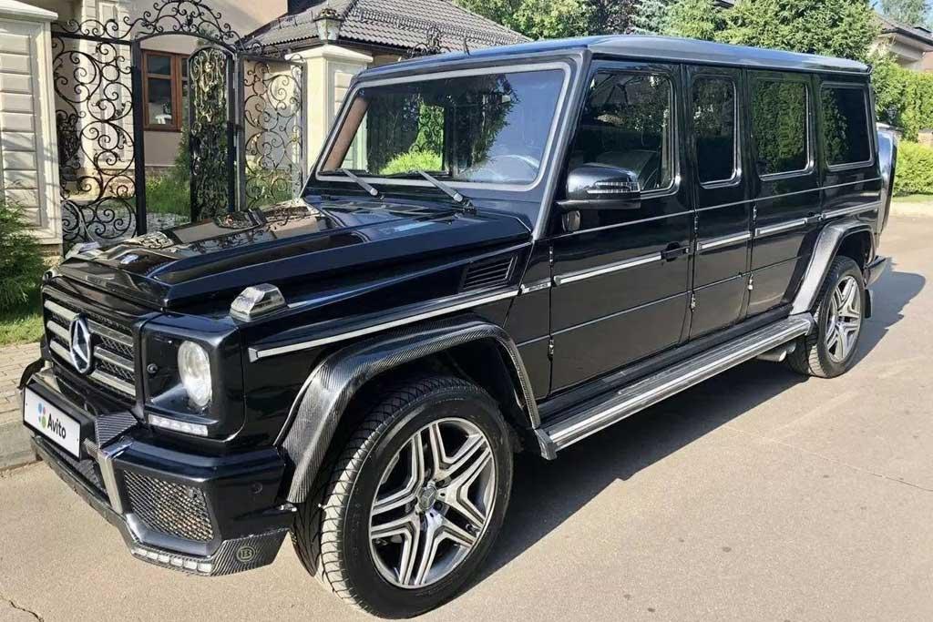 В Москве продают необычный Mercedes G55 AMG: кузов растянули на полметра