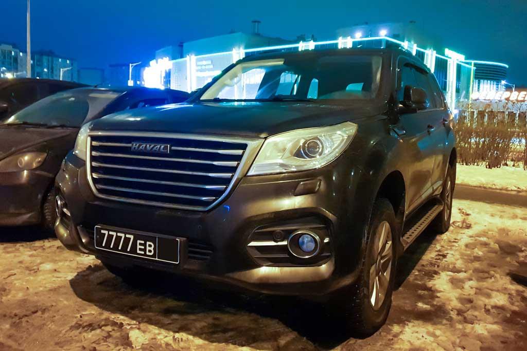 На дорогах замечен Haval H9 на черных номерах: новый штабной авто армии РФ