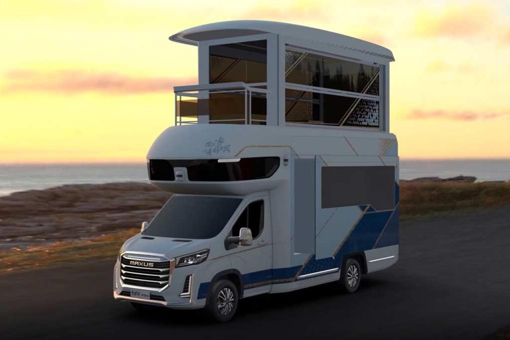 Maxus V90 Villa Edition: роскошный двухэтажный кемпер за 30,5 млн